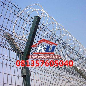 Harga Pagar Wiremesh Bandara Tinggi 200cm Galvanis Hotdeep Tahan Hujan Dan Debu